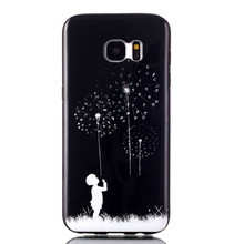 2017 Dandelion Flowers TPU Gel Back Cover Skin Soft Case for Samsung Galaxy S7 Edge 5.5 USB Camera WIFI Cell Phone Android Phone