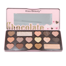 Matte Eyeshadow Pallete kiss beauty brand Makeup Faced palette love flush eye palette pigment chocolate bar sweet peach color