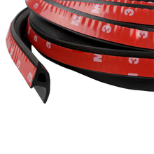 Waterproof P Type Car Sound Insulation Sealing Rubber Strip With 3M double-sided adhesive Stickers Car Door Strip Car-styling(China)