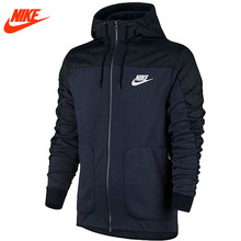 Nike men's new Blazer loose sports Hooded Stand Collar Dark Blue Black Jacket