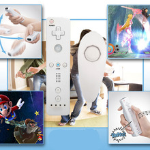 Brand New 6 color 2in1 Wireless Remote Controller and Nunchuk Controller for Nintendo Wii Controller with Protective Silicone