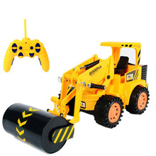 1:10 Engineering roller,Iron wheel vehicles, roller,6 Channels remote control vehicle,Electric cars toys,free shipping(China)