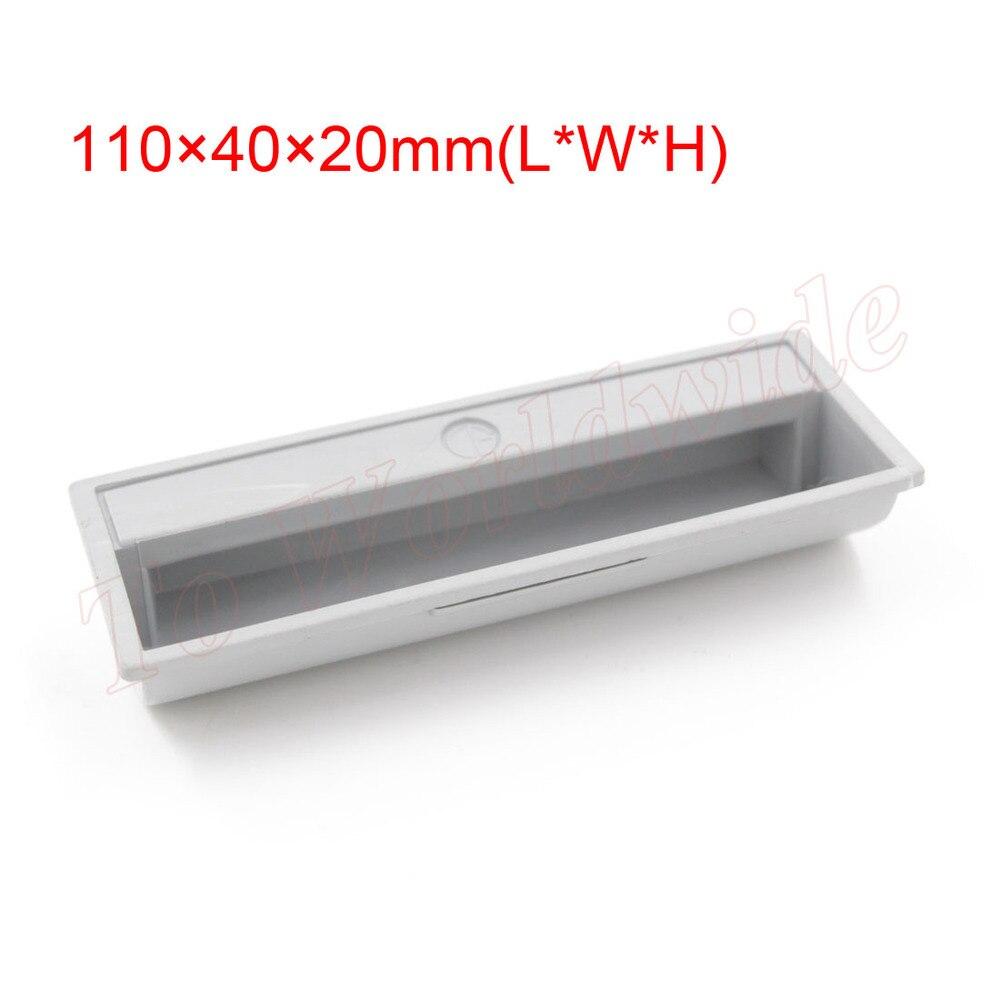 20pcs Light Gray Plastic Recessed Flush Pull Door Cabinet Drawer Handle<br><br>Aliexpress