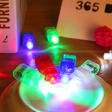 4Pcs LED Finger Lights Glowing Colorful Laser Emitting Lamps Christmas Celebration Festival Party Decor Children Toys