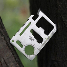 Outdoor Camping Multipurpose Tool 11 in 1 Multifunction Knife Outdoor Survivin Knife Pocket Survival Too