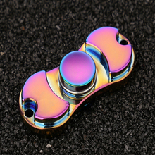 Colorful Creative Funny Metal Two-Spinner Fidget Toy Metal EDC Hand Spinner Rotation Time Long Anti Stress Toys Child Gift toy