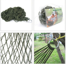 Portable Nylon Net bed Outdoor Travel Camping Hammock Garden Hang Mesh Net Sleeping Bed(China)