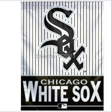 MLB Chicago White Sox Flag 3x5 FT 150X90CM Banner 100D Polyester flag , free shipping(China)
