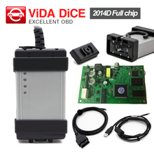 For Volvo Vida Dice Full Chip 2014D OBD 2 Professional Diagnostic-Tool For Volvo Dice Pro Green Board Multi-Language DHL free(China)