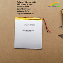 3.7V,6000mAH,4593105 Original battery polymer lithium ion battery;SmartQ T20,ONDA VI40,AMPE A86 Dual Core P85 Tablet PC