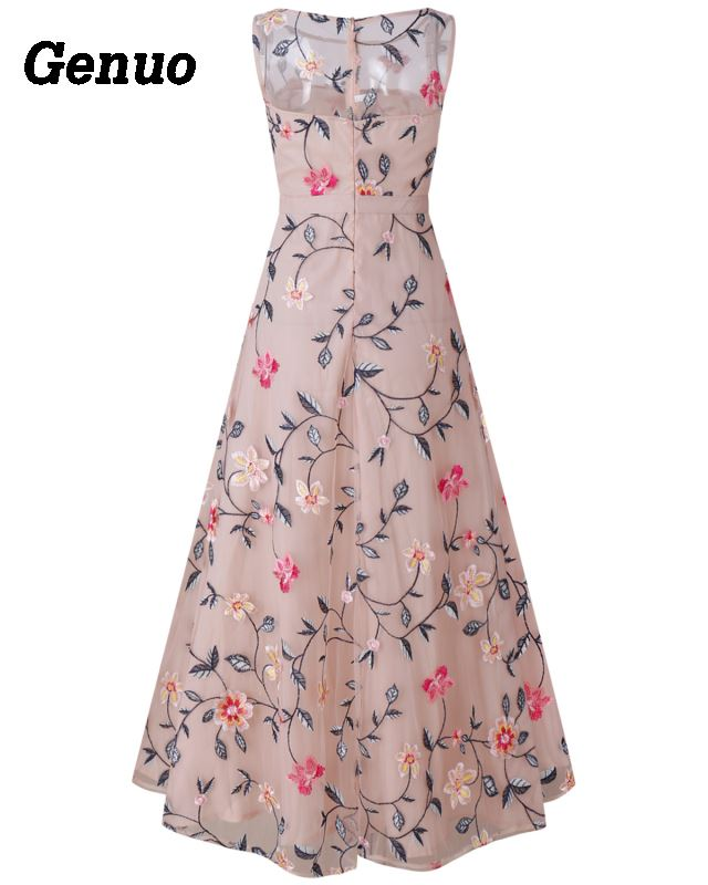 Flower Embroidery Maxi Dress 7