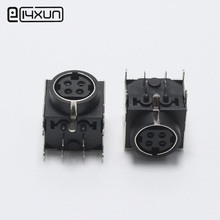 2pcs DIN 4 Pin Female Jack Adapter PCB Panel Mount Solder Chassis Connector Nickel Plated S Terminal(China)