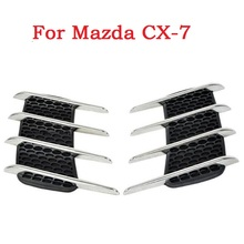 New Car Shark Gills Exterior Decor Side Air Intake Vent Air Flow Grille Vent Outlet New Styling For Mazda CX-7