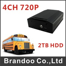 HDD Type 4CH Mobile Car DVR Bus Taxi Truck Vehicle Fleet Ship MDVR(China)