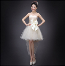 fashionable beautiful short front long back champagne tulle dress women for cocktail dresses buy direct from china H3008
