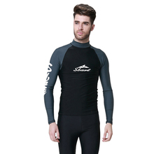Mens Rash Guards Men Top Long Sleeve Shrt Lycra Surfing Diving Guard Men Jacket UV Snorkel Shirt Swim Plus Size