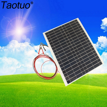 Taotuo 12V 20W Polycrystalline Saving Semi-flexible Solar Panels For RV Travel / boat/car 20 Watt 12V DC PV Poly Solar Module