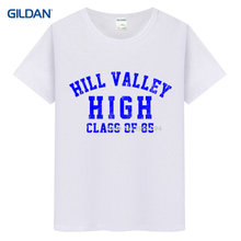 Dark Grey Tee Shirts 2017 HILL VALLEY HIGH Back To Future BTTF Flux VINTAGE LOOK AMERICAN APPAREL Printed T Shirt T-Shirt(China)
