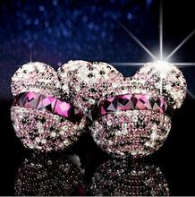 Car styling Mickey Minnie Crystal Diamond perfume original auto perfumes Air Freshener Car Air Conditioning Vent Clip