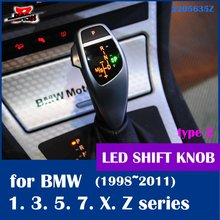 DASH LED shift knob gear selector lever handle for BMW E38 E39 E60 E46 E90 E92 E82 E87 E84 E83 E53 E85 E89 1998 2011(Taiwan,China)