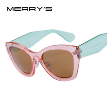 MERRY'S Butterfly Brand Eyewear Fashion Sun glasses Women Cat Eye Sun Glasses High quality Oculos UV400(China)