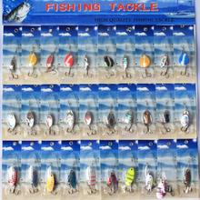 Hot Selling 30 PCS Beach Style Assorted Metal Spinner Baits Fishing Spoon Lures Bait  Salmon Bass