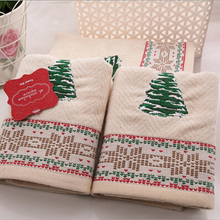 100% Cotton Christmas Tree Pattern 3 Piece/set Quick -Dry Towel Set Gifts Towel Universal Home Hotel Cotton Super Soft Towel