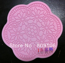 Wholesale /retail,free shipping, Lace sugar mould rich flowers silica gel of sugar cake tools lace mould sugar lace12cm(China)