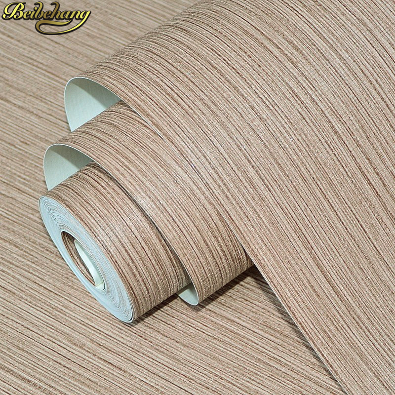 beibehang Straw linen Solid color Striped wallpaper for walls 3 d Wallpaper for Living room Bedroom wall paper roll home decor<br>
