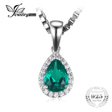 JewelryPalace 0.7ct Water Drop Created Emerald Pendants Genuine 925 Sterling Silver Fashion Fine Jewelry Not Include the Chain(China)
