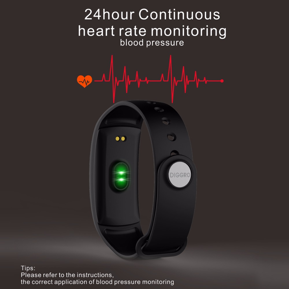Diggro QS90 Blood Pressure Smart Bracelet Heart Rate Monitor Blood Oxygen Monitor IP67 Fitness Tracker for Andriod IOS VS QS80 6