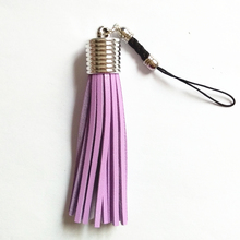 Mini Leather Pompon Key Chains Small Leather Tassel Key Ring Tassel Pendant Personality Hang Keychains Phone Key Chain