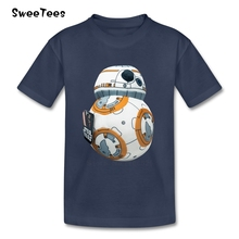 BB-8 Star Wars T Shirt Kids Cotton Short Sleeve O Neck Tshirt Children Costume 2017 Best Selling T-shirt For Boys Girls Infant(China)