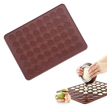 Kitchen 48 Hole Cake Mold Silicone Baking Mat Large Double Sided Macaron Macaroon Dessert DIY Mold Sheet 2017ing(China)