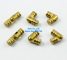10 PIECES HIDDEN HINGE INVISIBLE HINGE BARREL CONCEALED HINGE 5x17mm / BRASS(China)