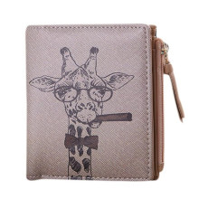 Wallet Women Vintage Giraffe Animals priting Coin Clip Short Purse Clutch womens wallets and purses carteira feminina couro