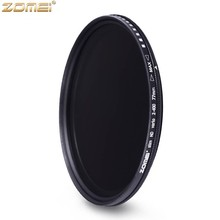 Zomei Fader Variable ND Filter Adjustable ND2 to ND400 ND2-400 Neutral Density for Canon NIkon Hoya Sony Camera Lens 49/52/55 mm