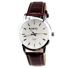 Lovers quartz Men and women Casual Leather Strap Clock watch relogio masculino mujer(China)