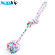 30cm Long Cotton Rope Pet Dog Toy Hand Chain Ball Tooth Cleaning Dog Puppy Training Toy(China)
