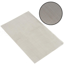 1pc Durable Silver 180/300/325/400 Mesh Woven Wire Mayitr Stainless Steel Filter Woven Wires Sheet Filter for Mining 30cm*20cm