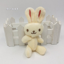 Han edition 10 cm plush toy rabbit articular AOSST rabbit lovely doll accessories dress DIY accessories toys