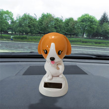 New Brand CARPRIE 1PC Car Decoration Toy Solar Powered Dancing Animal Swinging Animated Bobble Dancer Toy Pretty(China)