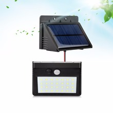3 Modes 28LEDs Waterproof Outdoor Motion PIR Sensor Separable LED Solar light lamp Wall Security Night lamp Garden Bulb(China)