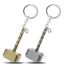 Thor Hammer Keychain The Avengers Super Hero Key Chain Metal Movie Key Holder Car Pendant Men Bags Keyring Jewelry Mini Gift