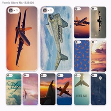 aircraft Airplane fly travel in the Sky Design hard White Skin Case for Apple iPhone 6 6s Plus 7 7Plus SE 5 5s 5c phone case