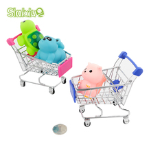 Kid Baby Toys Mini Trolley Supermarket Simulation Toys Shopping Cart Storage box Creative Novelty Birthday Gift Cellphone Holder