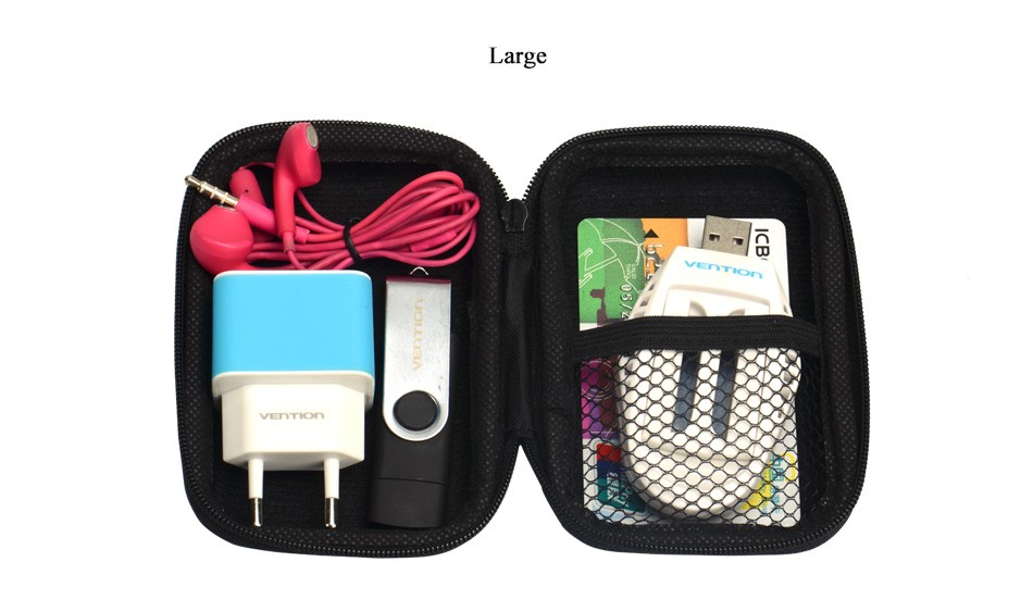 Vention S/L Sizes Fashion Organizer System Kit Case Storage Bag Digital Devices USB Data Cable Earphone Flash Drives Travel Case