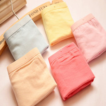 High quality 6 pcs/lot women's underwear cotton sexy solid boyshort knickers women's Underpants girls boxers free shipping(China)