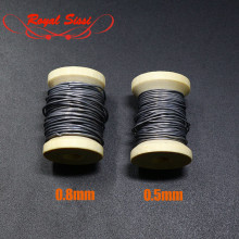 Dia 0.5mm/0.8mm 5 Meters Round Soft Lead Wire Spool for Fly Fishing Tying Material Nymph Flie Weight Line enable dubbing thread