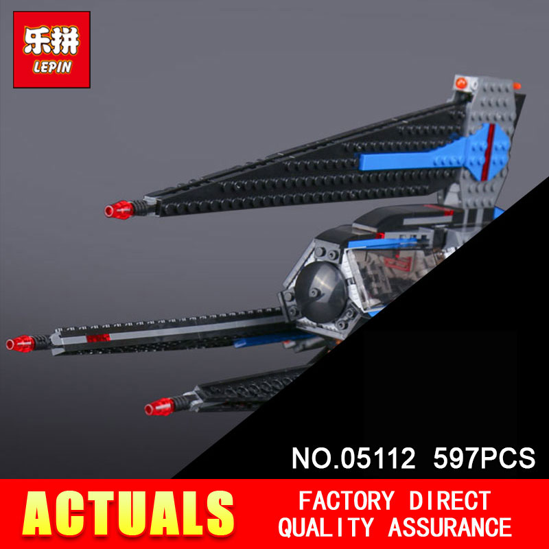 Lepin 05112 597Pcs Star Genuine Stunning Wars The Tracker I Fighter Set Children Educational Building Blocks Toy Model 75185<br>